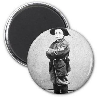 Portrait of a boy soldier c. 1860-1865. Civil War 6 Cm Round Magnet