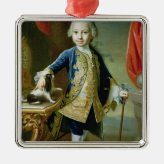 Portrait of a Boy with Pet Spaniel, 18th century Christmas Ornament