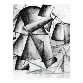 Portrait of a Builder by Kazimir Malevich Postcards