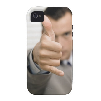 Portrait of a businessman making a thumbs up iPhone 4/4S case