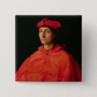 Portrait of a Cardinal 15 Cm Square Badge