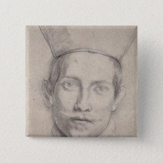 Portrait of a Cardinal 2 15 Cm Square Badge