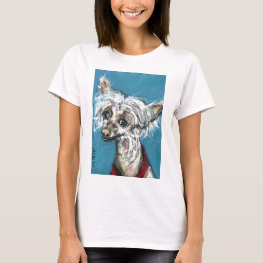 Portrait of a Chinese Crested Dog T-Shirt