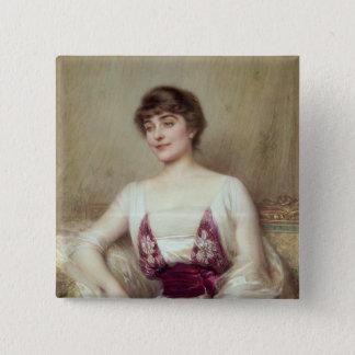 Portrait of a Countess 15 Cm Square Badge