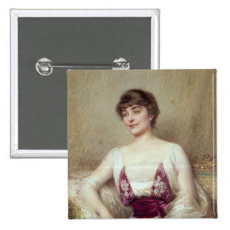 Portrait of a Countess 15 Cm Square Badge