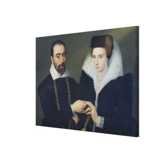 Portrait of a Couple Gallery Wrapped Canvas