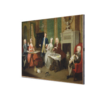 Portrait of a Family, 1730s (oil on canvas) Canvas Print