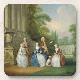 Portrait of a Family, 1740 (oil on canvas) Beverage Coasters
