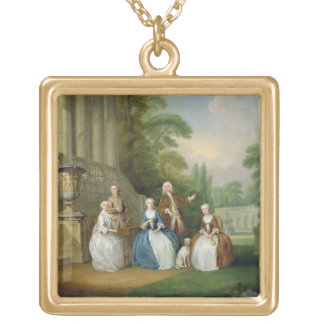 Portrait of a Family, 1740 (oil on canvas) Custom Jewelry