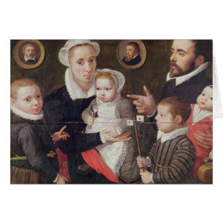 Portrait of a family greeting card