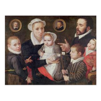 Portrait of a family postcard