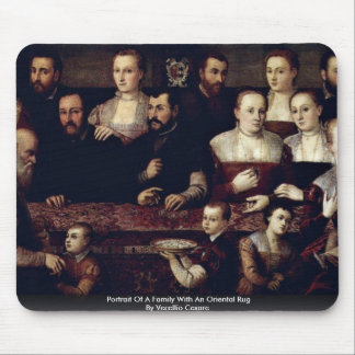 Portrait Of A Family With An Oriental Rug Mouse Pad