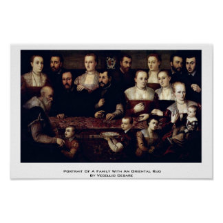 Portrait Of A Family With An Oriental Rug Print