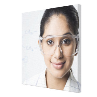 Portrait of a female lab technician wearing a canvas print