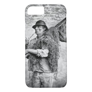 Portrait of a Fisherman Carrying his Nets (b/w pho iPhone 8/7 Case