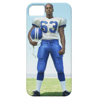 portrait of a football player holding a football iPhone 5 cover
