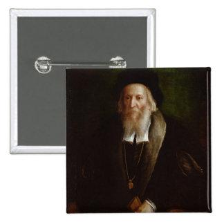 Portrait of a Gentleman 15 Cm Square Badge