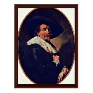 Portrait Of A Gentleman By Hals Frans Post Cards