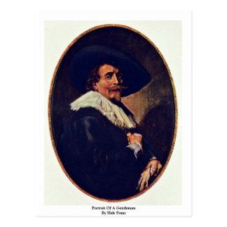 Portrait Of A Gentleman By Hals Frans Postcard