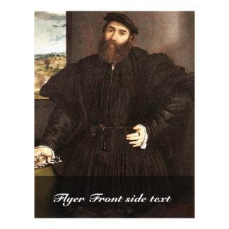 Portrait Of A Gentleman By Lotto Lorenzo (Best Qua Full Color Flyer