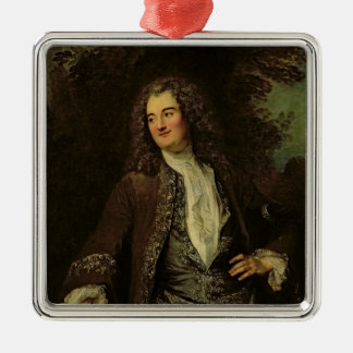 Portrait of a Gentleman, or Portrait of Jean Silver-Colored Square Decoration