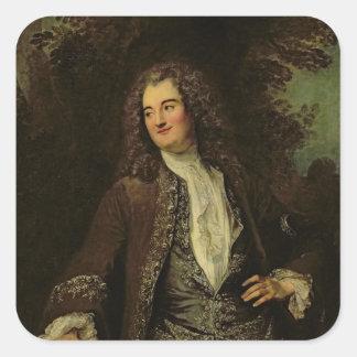 Portrait of a Gentleman, or Portrait of Jean Square Sticker