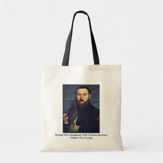 Portrait Of A Gentleman With A Falcon Canvas Bag