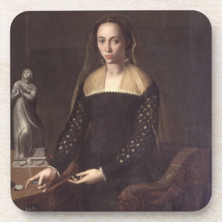 Portrait of a Gentlewoman, 1559 (oil on panel) Beverage Coasters