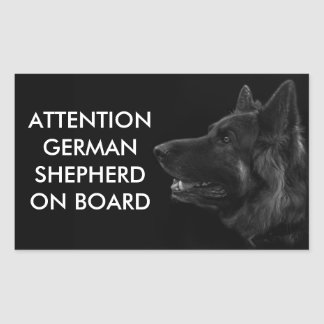 Portrait of a german shepherd dog rectangular sticker