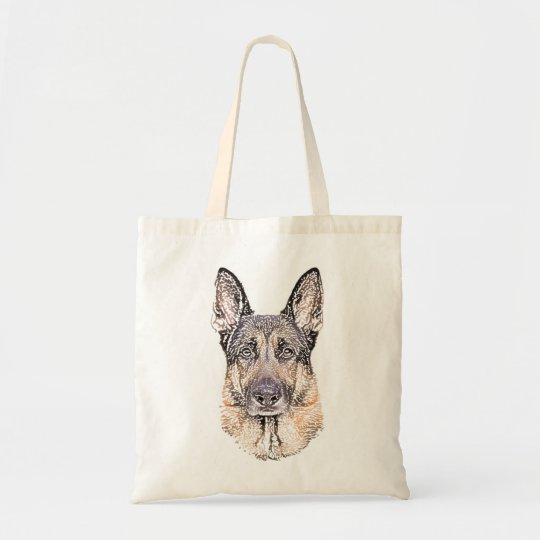 Portrait of a German Shepherd Dog Sketched Art