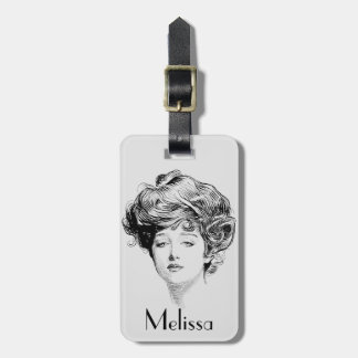 Portrait Of A  Gibson Girl, 1900 Tag For Luggage
