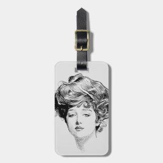 Portrait Of A  Gibson Girl, 1900 Tags For Luggage