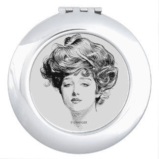 Portrait Of A  Gibson Girl, 1900 Vanity Mirrors