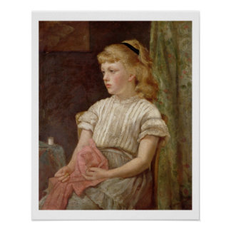Portrait of a Girl, 1896 (oil on canvas) Poster