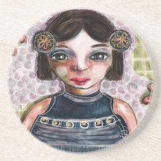 Portrait of a Girl Beverage Coaster