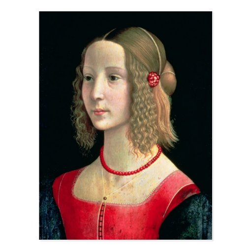 Portrait of a Girl, c.1490 Post Card