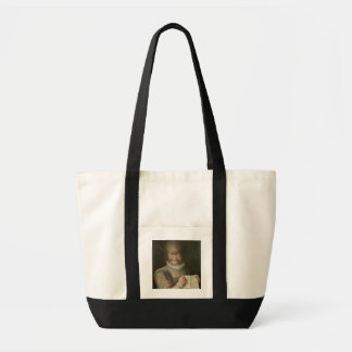 Portrait of a Girl Covered in Hair Impulse Tote Bag