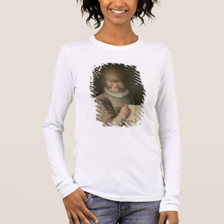 Portrait of a Girl Covered in Hair Long Sleeve T-Shirt