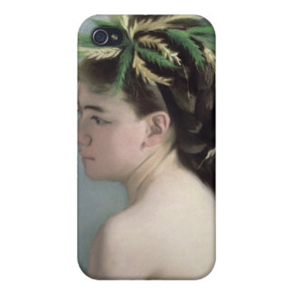 Portrait of a Girl holding a Sparrow iPhone 4/4S Case