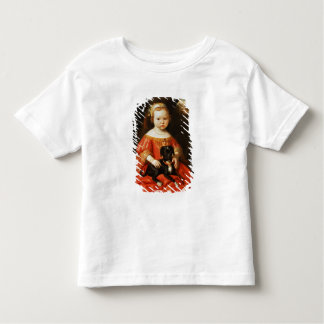 Portrait of a Girl with a Dog Toddler T-Shirt