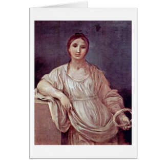 Portrait Of A Girl With Crown By Guido Reni Greeting Card