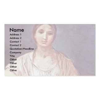 Portrait Of A Girl With Crown By Reni Guido Business Card Template