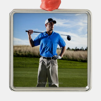 Portrait of a golfer on a sunny day. christmas ornament