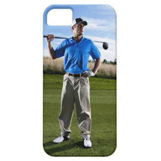 Portrait of a golfer on a sunny day. iPhone 5 cover