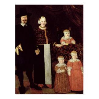 Portrait of a Hamburg Family, c.1640 Postcard
