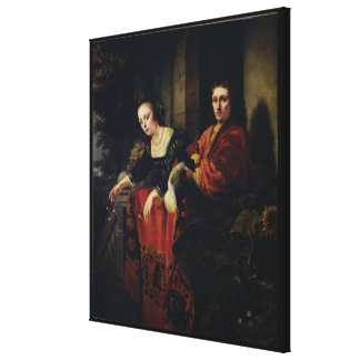 Portrait of a Husband and Wife, 1654 Canvas Print