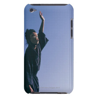 Portrait of a Japanese man in traditional 4 Barely There iPod Cases