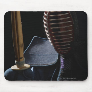 Portrait of a Kendo Fencer 6 Mouse Mat