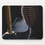 Portrait of a Kendo Fencer 6 Mouse Pads