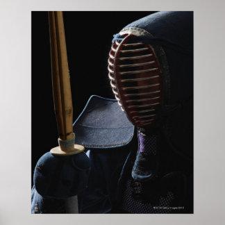 Portrait of a Kendo Fencer 6 Poster
